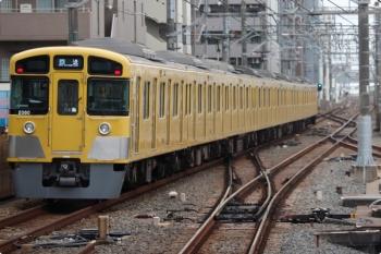 2021年3月28日 14時44分頃。練馬。急行線を通過した2079Fの下り回送列車。