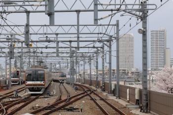 2021年3月28日。石神井公園。左から、メトロ10021Fの6503レ、37S運用で折り返し待ちのメトロ10023F、メトロ10005Fの1802レ。