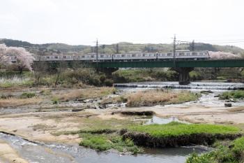 2021年4月1日。仏子〜元加治駅間。メトロ17000系の1703レ。おそらく第1編成です。