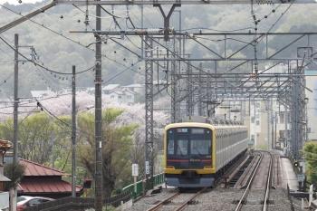 2021年4月1日。元加治〜仏子駅間。東急4110Fの3712レ。