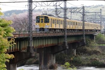 2021年4月3日。仏子〜元加治駅間。2465F+2069Fの4115レ。