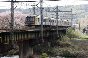 2021年4月3日。仏子〜元加治駅間。東急4110F(ヒカリエ号)の1701レ。