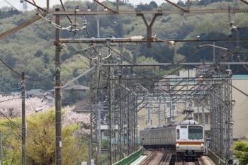 2021年4月3日。仏子〜元加治駅間。メトロ7005Fの4703レ。