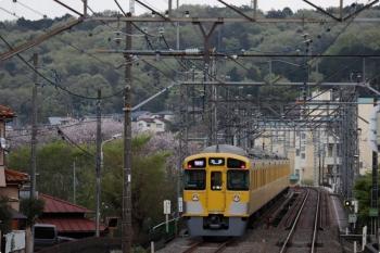 2021年4月3日。仏子〜元加治駅間。2085Fの1002レ。