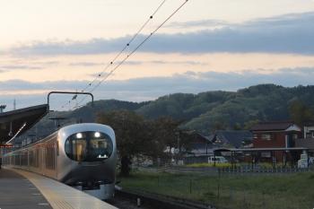 2021年4月9日 5時23分頃。元加治。001-A編成のはずの下り回送列車が通過。
