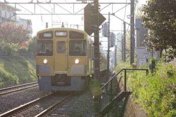 2021年4月12日 6時18分頃。東伏見〜武蔵関。2519F+2523Fの下り回送列車。