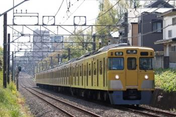 2021年4月12日。武蔵関〜東伏見。2401F+2093Fの4307レ。