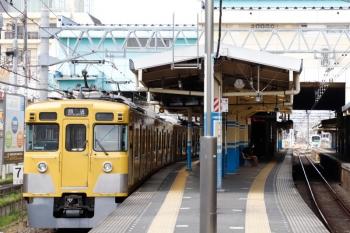 2021年4月12日 10時8分頃。田無。2405F+2003Fの下り回送列車。