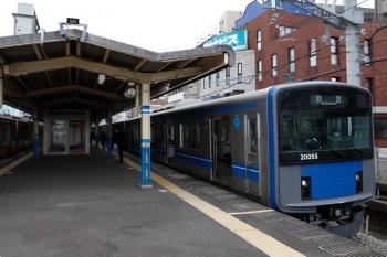 2021年4月12日 10時34分頃。田無。20155Fの5119レは到着後、下り回送列車となって10時36分発でした。