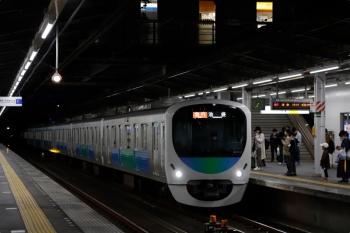 2021年4月13日。武蔵藤沢。5分ほど遅れの2176レは38112Fの8連。
