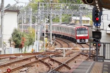 2021年4月13日 11時38分頃。京成佐倉。京急1073ほか8連の上り回送列車。