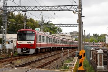 2021年4月13日 11時48分頃。京成佐倉。発車した京急1073ほか8連の1182H・快速 西馬込ゆき。