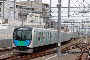 2021年4月13日。石神井公園。2番ホームから発車した、1本目S-TRAIN戻しの40105Fの6503レ(52M)。