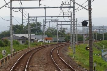2021年5月8日。仏子〜元加治駅間。下り列車の車内から。左下に「15/訓練」標識が見えてます。