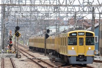 2021年5月8日 11時52分頃。小手指。3番ホームへ到着する2465F+2089Fの下り回送列車。