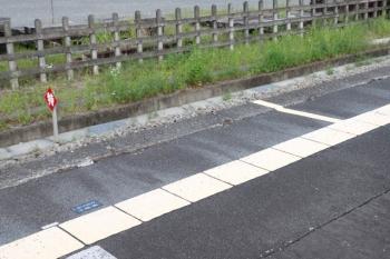 2021年5月19日。武蔵横手。「Laview/2号車」という黒ラベルが貼られた1番ホームの飯能方。