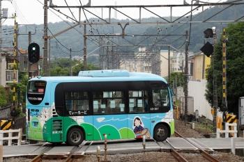 2021年5月22日。元加治。コミュニティバスの「てぃーろーど」。