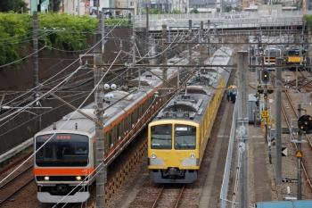 2021年6月13日 14時17分頃。新秋津。輸送待ちの40155Fの5両(奥)と263Fが連結。