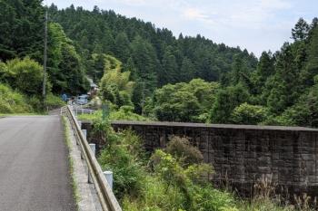 2021年6月13日 8時50分ころ。東吾野駅から自転車で20分ほどの砂防ダム。