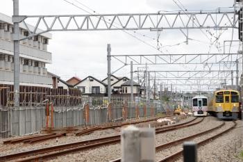 2021年6月20日 11時33分頃。東村山〜所沢駅間。仮線切り替え後の下り線を走る4009F(52席)。