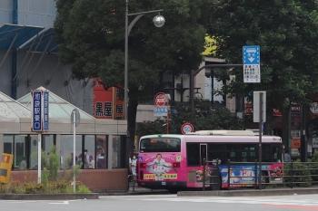 2021年6月22日 8時10分頃。池袋。文京区方面から到着したバスが、一旦「回送」表示となってから、折り返し、「一ツ橋」ゆき最終バスとなります。