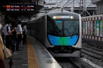 2021年7月2日。上石神井。4番ホームへ到着する40103Fの2本目の通勤急行 2754レ。