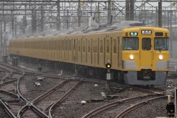 2021年7月2日。上石神井。1番ホームへ到着する2401F+2057Fの準急 新所沢ゆき4803レ。