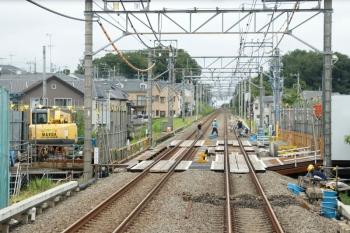 2021年7月3日。武蔵藤沢〜稲荷山公園駅間。上り列車の車内から。