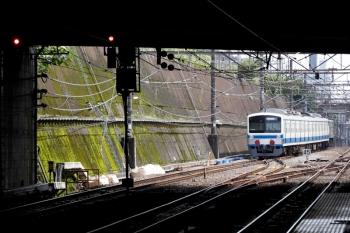 2021年7月10日 15時5分頃。新秋津。EF65-2092に牽引され多摩川線へ向かう西武1241F。府中本町方の分岐器工事による速度制限はなくなっていました。