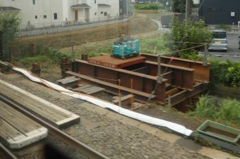 2021年7月10日。武蔵藤沢〜稲荷山公園駅間。不老川を渡る箇所の下り線側(飯能方)。