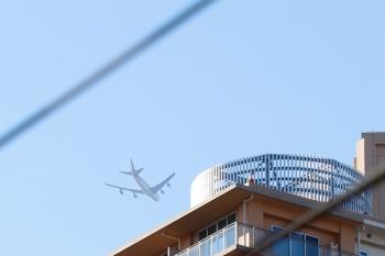 2021年7月18日 16時59分頃。小手指。南東から北西へ、ジェット機が上空を通過。