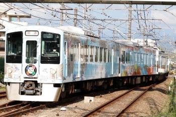 2021年7月23日 7時11分頃。仏子。中線に到着する4009Fの上り回送列車。