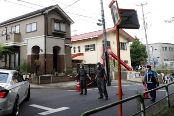 2021年7月24日 11時頃。多磨駅近くの東八道路の手前。