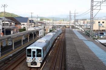 2021年7月25日 7時11分頃。仏子。中線へ到着する4009Fの上り回送列車。