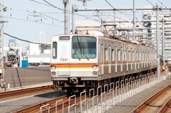 2021年7月31日。石神井公園。メトロ7001Fの6328レ(25S運用)。