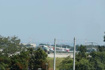 2021年8月1日。武蔵藤沢〜稲荷山公園駅間。航空自衛隊・入間基地。