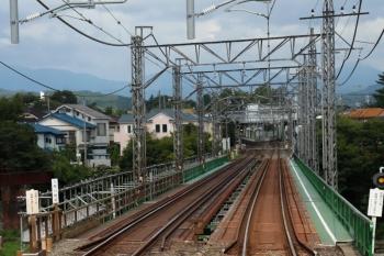 2021年8月7日。仏子〜元加治駅間。左が下り線です。