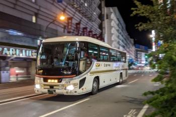 2021年8月16日 21時頃。池袋。群馬県方面ゆきの日本中央バス。