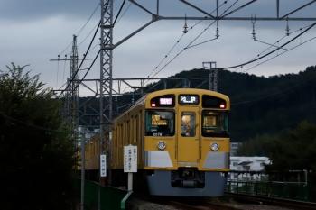 2021年9月5日。仏子〜元加治駅間。2079Fの1002レ。