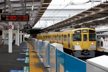2021年9月5日 14時12分頃。所沢。3番ホームへ到着する2063Fの上り回送列車。