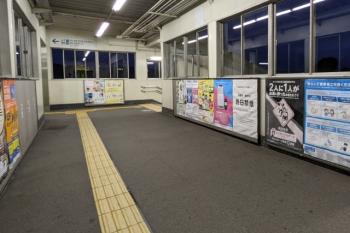 2021年9月6日 朝。元加治駅の跨線橋。