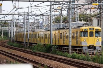 2021年9月13日 8時21分頃。西武新宿〜高田馬場。2405F+2095Fの4803レ。7・8分の遅れです。
