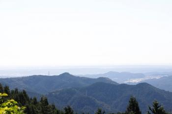 2021年9月20日 9時20分頃。飯能市阿寺からの眺め。