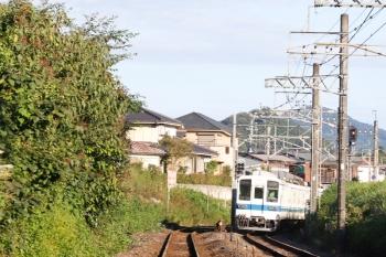 2021年9月20日 7時9分頃。越生〜武州唐沢。8000系の越生ゆき。