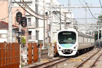 2021年10月8日。新井薬師前〜沼袋駅間。30101Fの田無ゆき急行 2101レ。